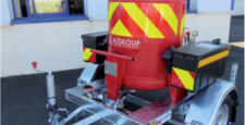 picture - skid 150kg with reel and sun shield